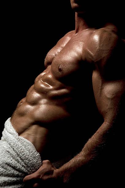 Muskuläre Männlicher torso – Foto