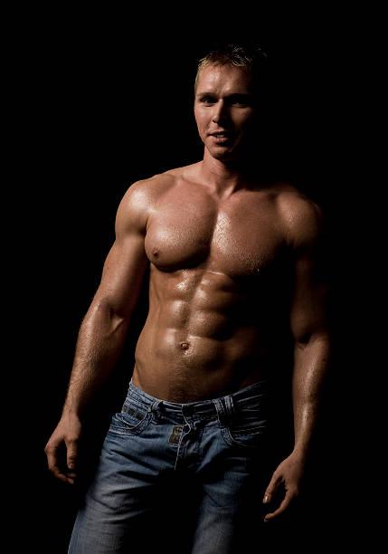 Muskuläre Männlicher torso XXL – Foto