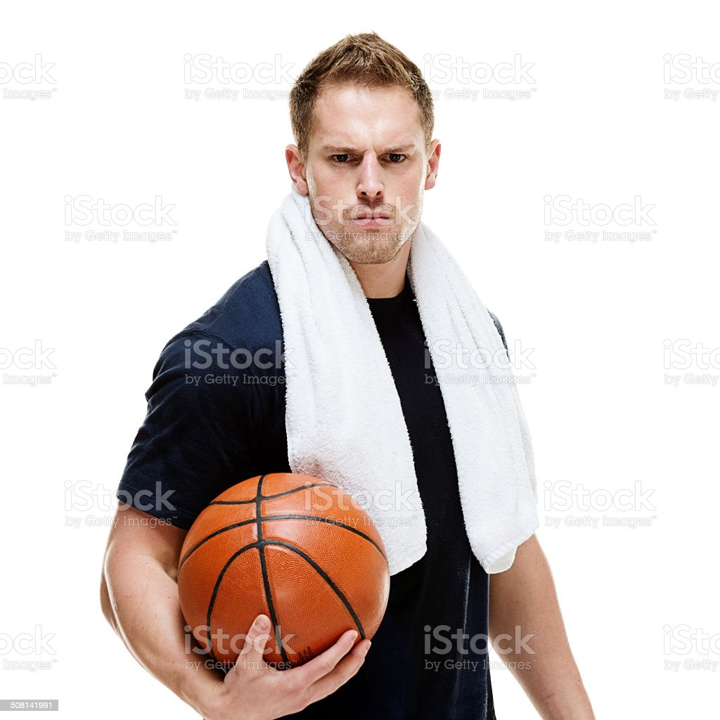 muscular man holding basketball stock photo more pictures of 20 29