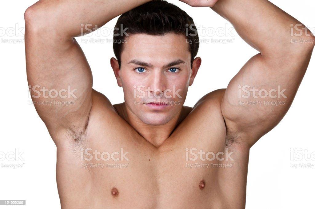 Muscular man royalty-free stock photo
