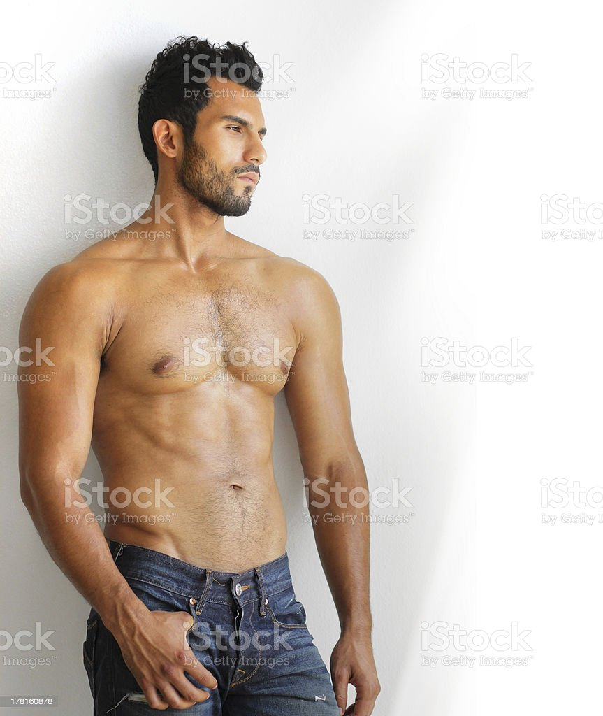 Muscular man stock photo