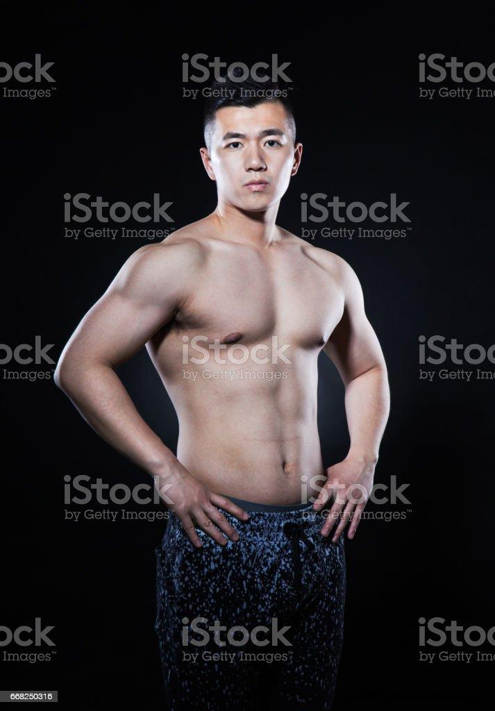 Muscular Man foto stock royalty-free
