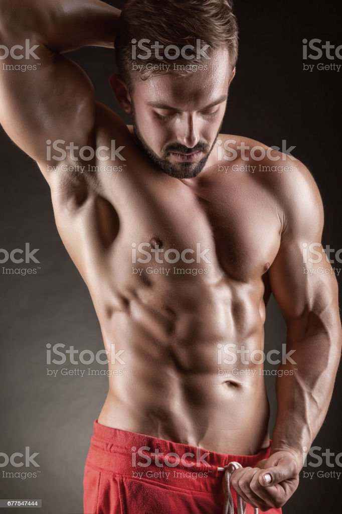 Muscular man royalty-free stock photo