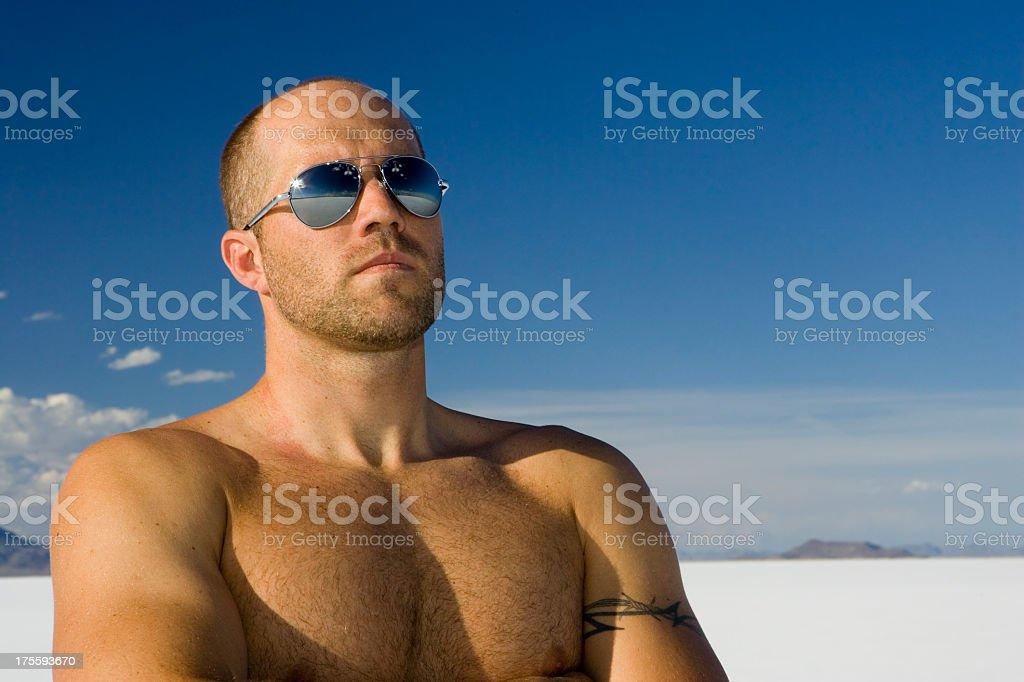 Muscular Man Portrait royalty-free stock photo