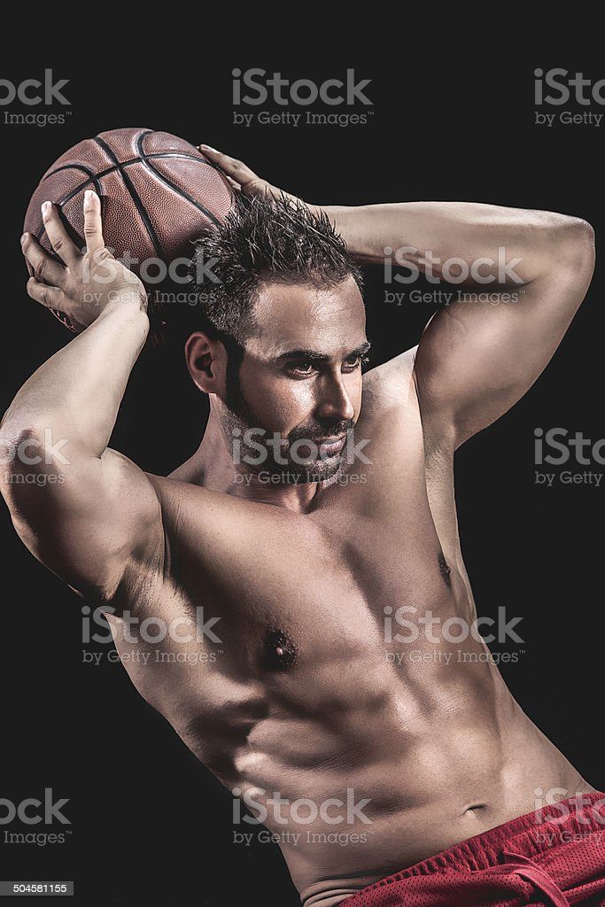 Muscular Man portrait royalty-free stock photo