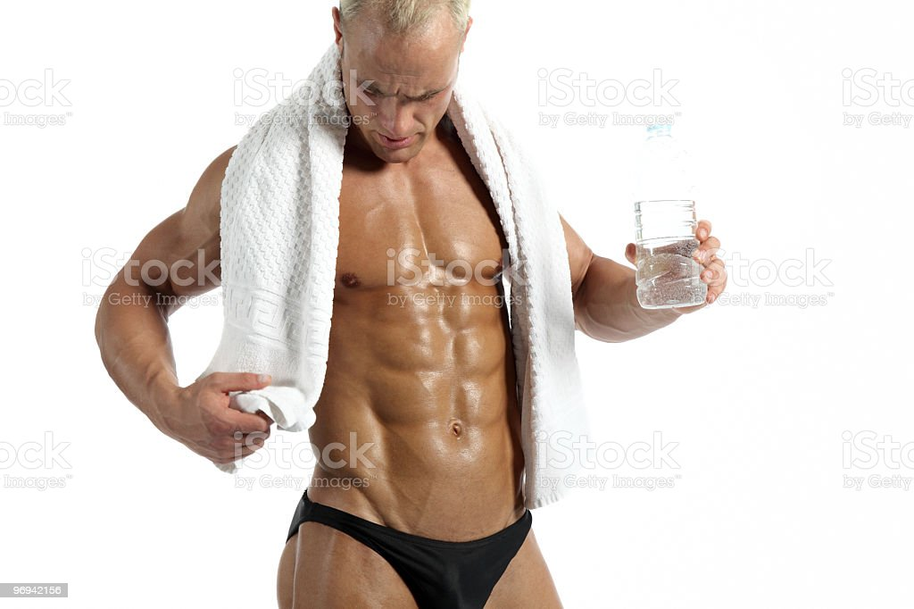 Muscular man relaxing royalty-free stock photo