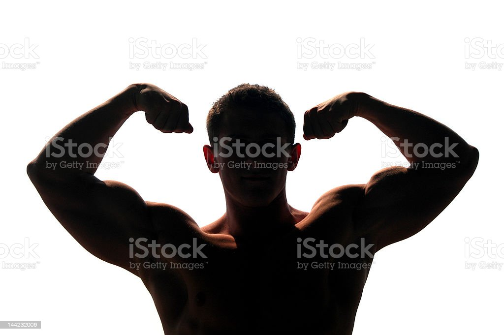 Muscular Man Showing His Biceps royalty-free stock photo