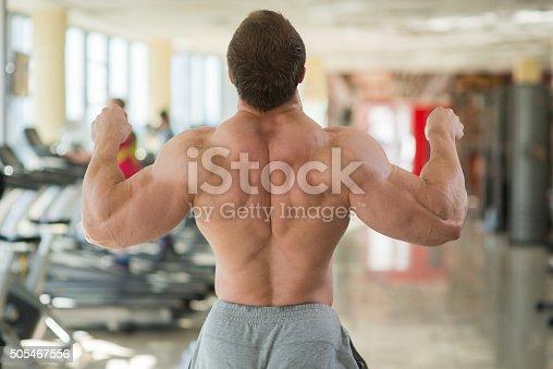 istock Muscular man'€™s back. 505467556