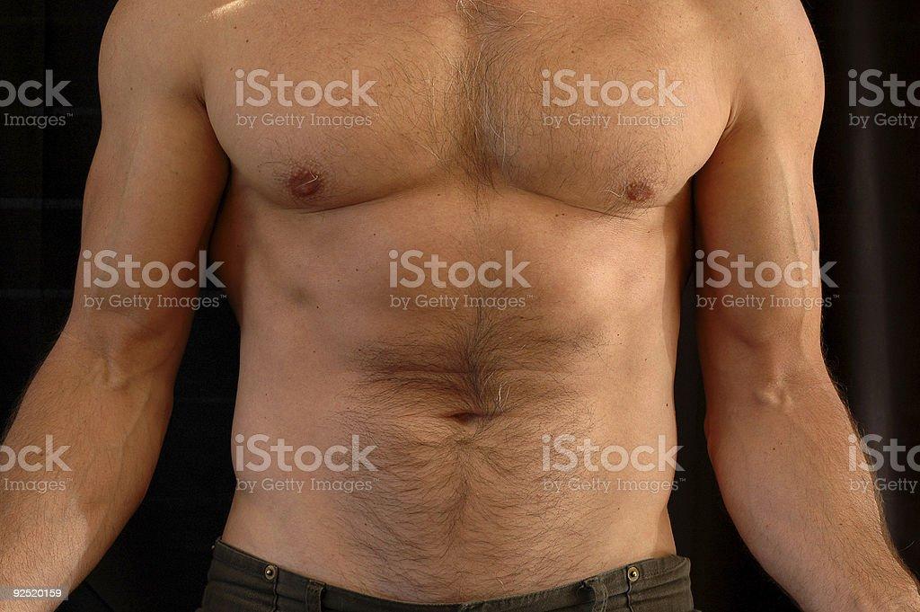 Muscular man's body royalty-free stock photo