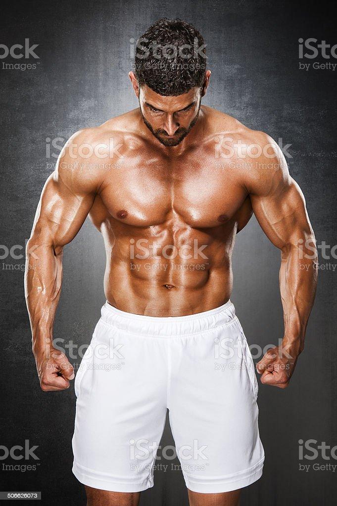 Muscular Men royalty-free stock photo