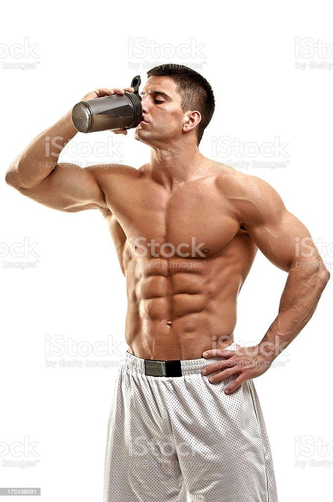 Muscular Men Rehydrate stock photo