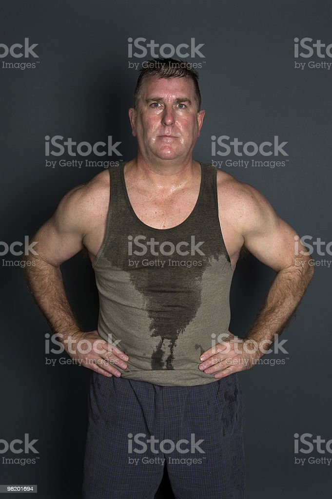 Muscular mid adult man royalty-free stock photo