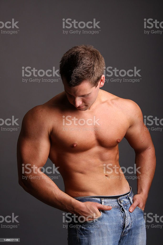 muscular model royalty-free stock photo