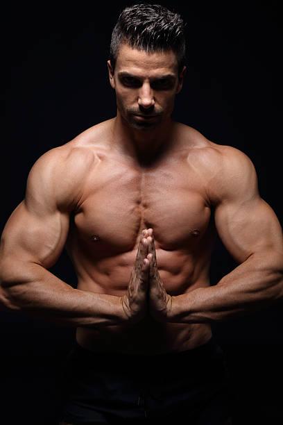 Best Men Yoga Naked Praying Stock Photos, Pictures