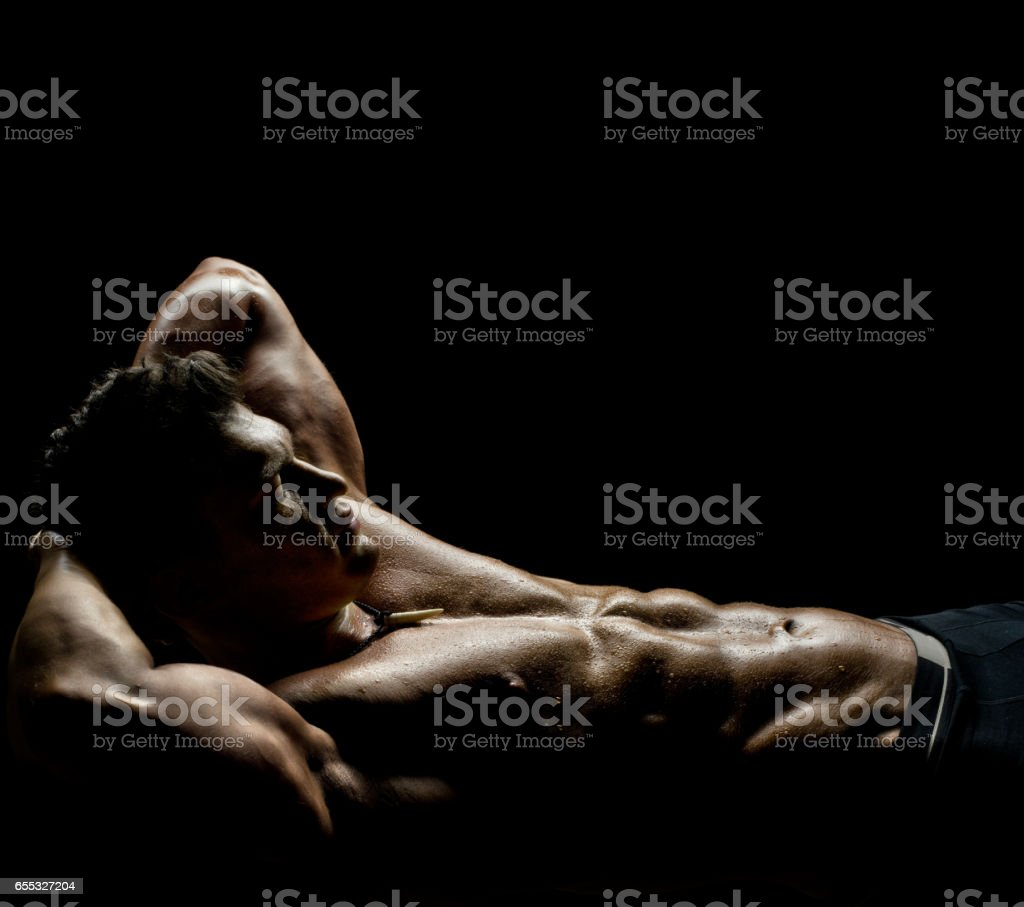 muscular sexy guy stock photo