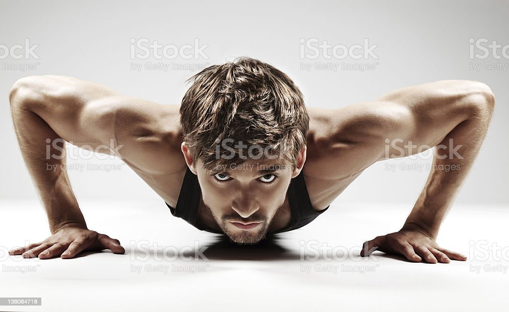 muscular sexy man royalty-free stock photo
