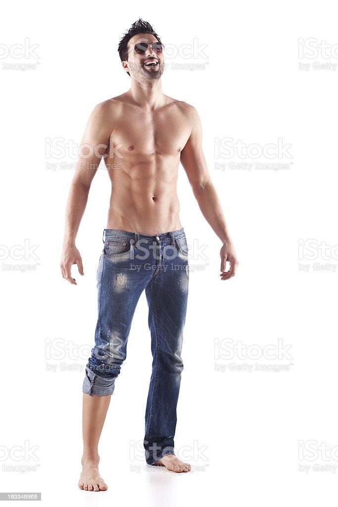 Muscular shirtless male royalty-free stock photo