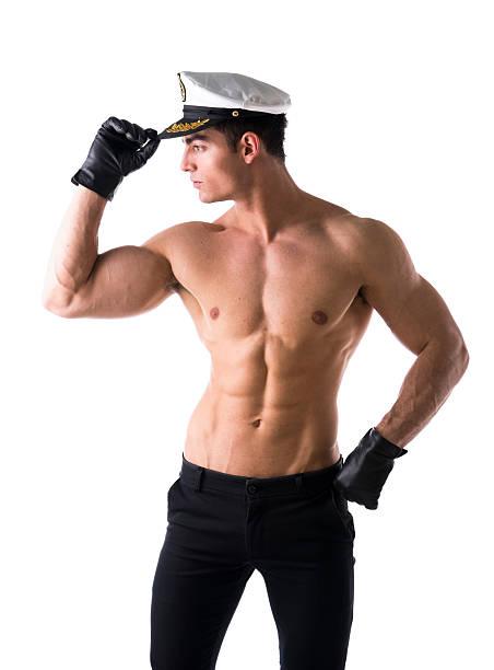 nude male sailors on beach