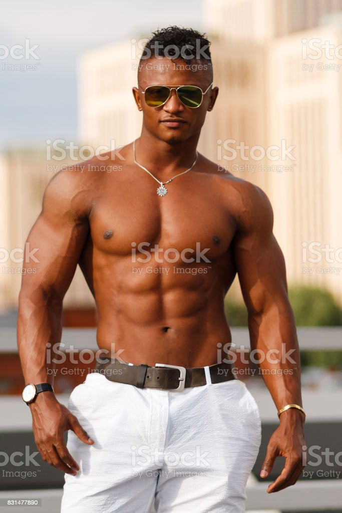 Hot muscle black men
