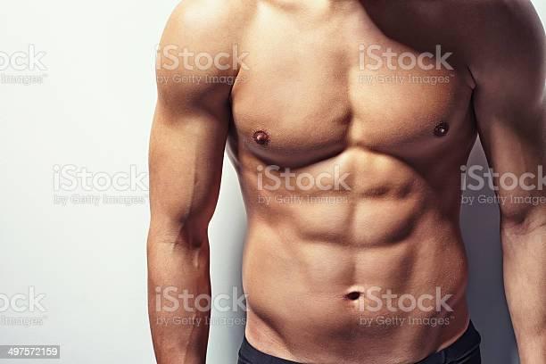 Muskuläre Oberkörper Junger Mann Stockfoto und mehr Bilder von Männer
