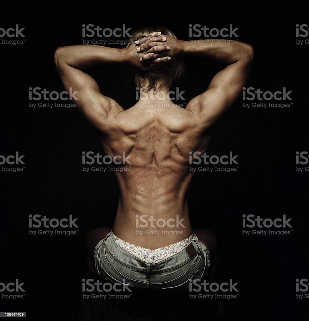 Muscular Woman stock photo