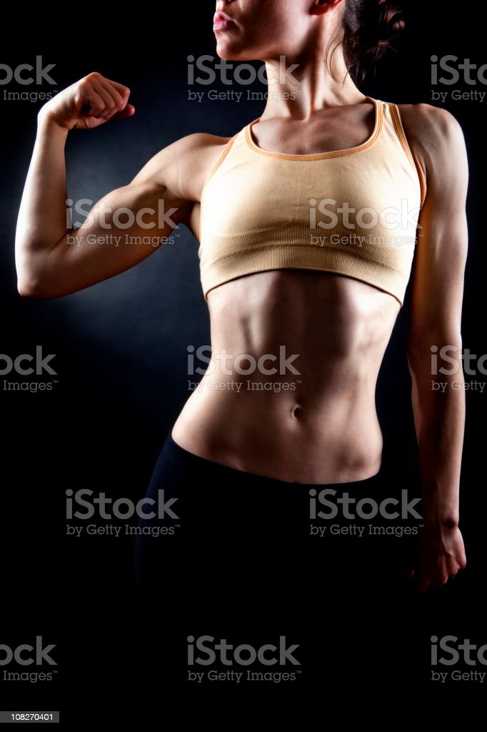 Muscular Woman: Upper Body royalty-free stock photo