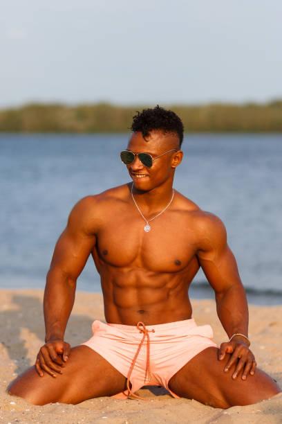 Black naked male athletes #3
