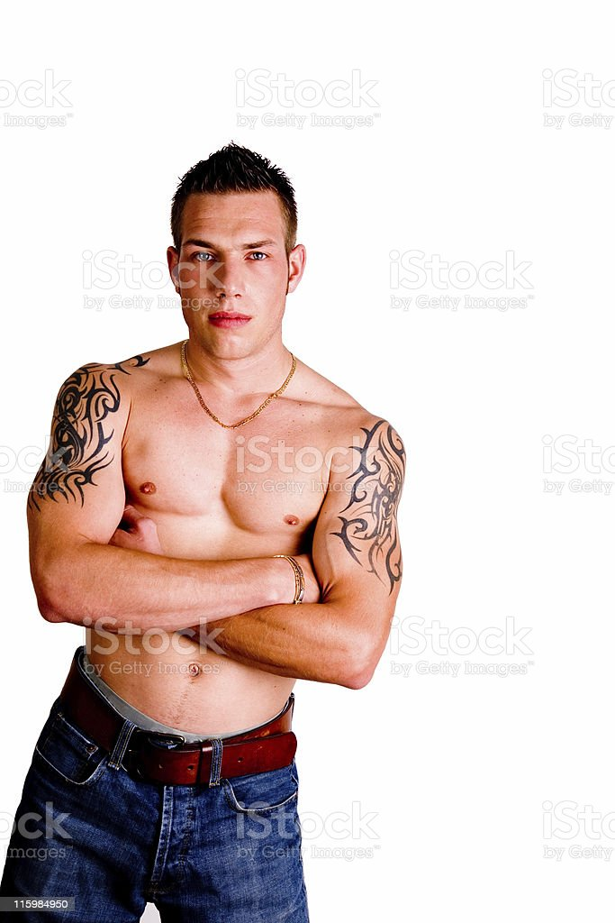 Muscular young man royalty-free stock photo