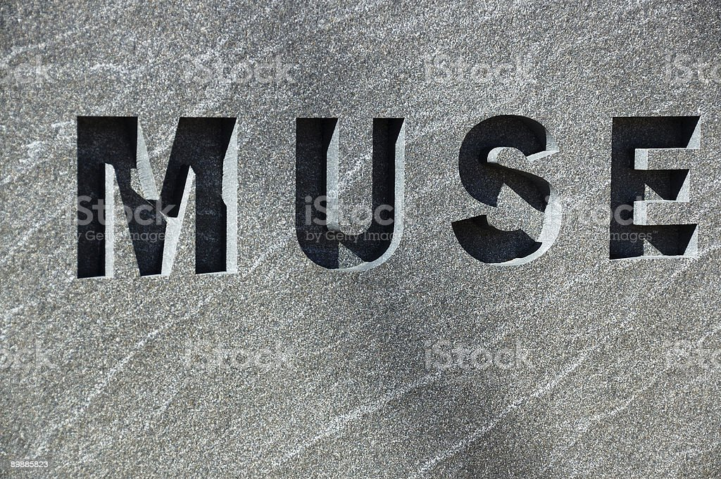 Muse carved in stone royalty-free stock photo