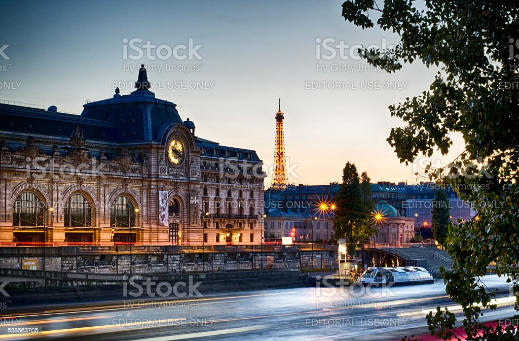 Musee dOrsay and River Seine, Paris, France, 2014 stock photo