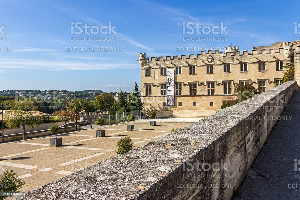 Musee Du Petit Palai near Pope palace in Avignon, France stock photo