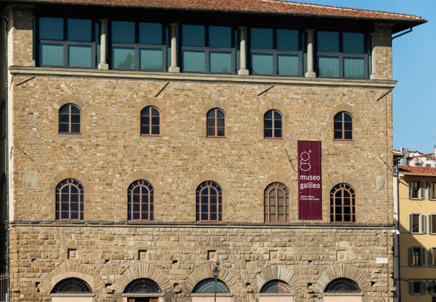 Museo Galileo, Florence, Italy Facade of the Museo Galileo in Florence, Italy. It is a major natural sciences museum. galileo galilei stock pictures, royalty-free photos & images