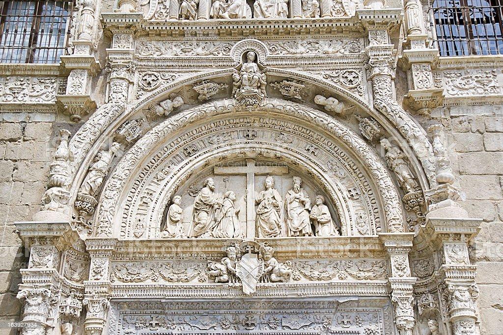 Museo Santa Cruz, exterior facade in Toledo, Spain royalty-free stock photo