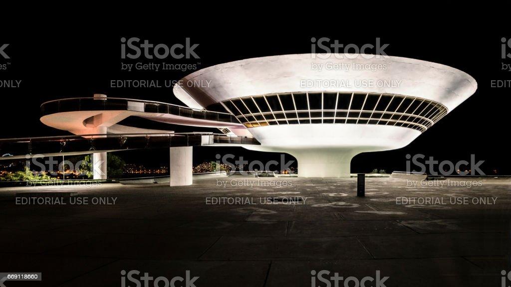 Museu Arte Contemporanea MAC Niemeyer Niteroi stock photo