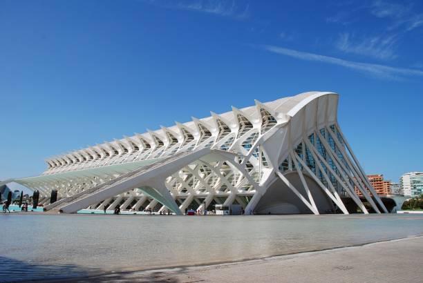 Museu de les Ciencies, Valencia stock photo
