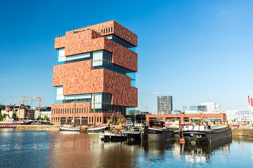 Museum Aan De Stroom In Antwerp Stock Photo - Download Image Now