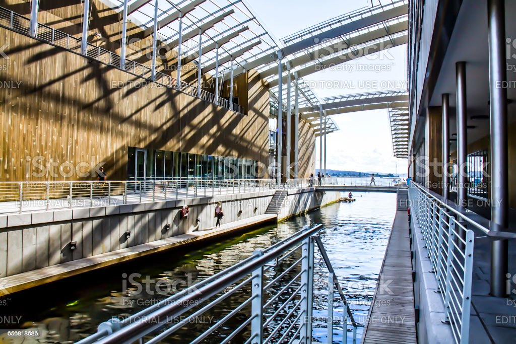 Museum Astrup Fearnley Museum in Oslo, Norway stock photo