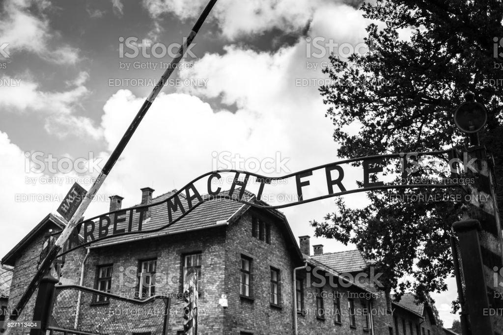 Museum Auschwitz Holocaust Memorial Museum The Main Gate Of The