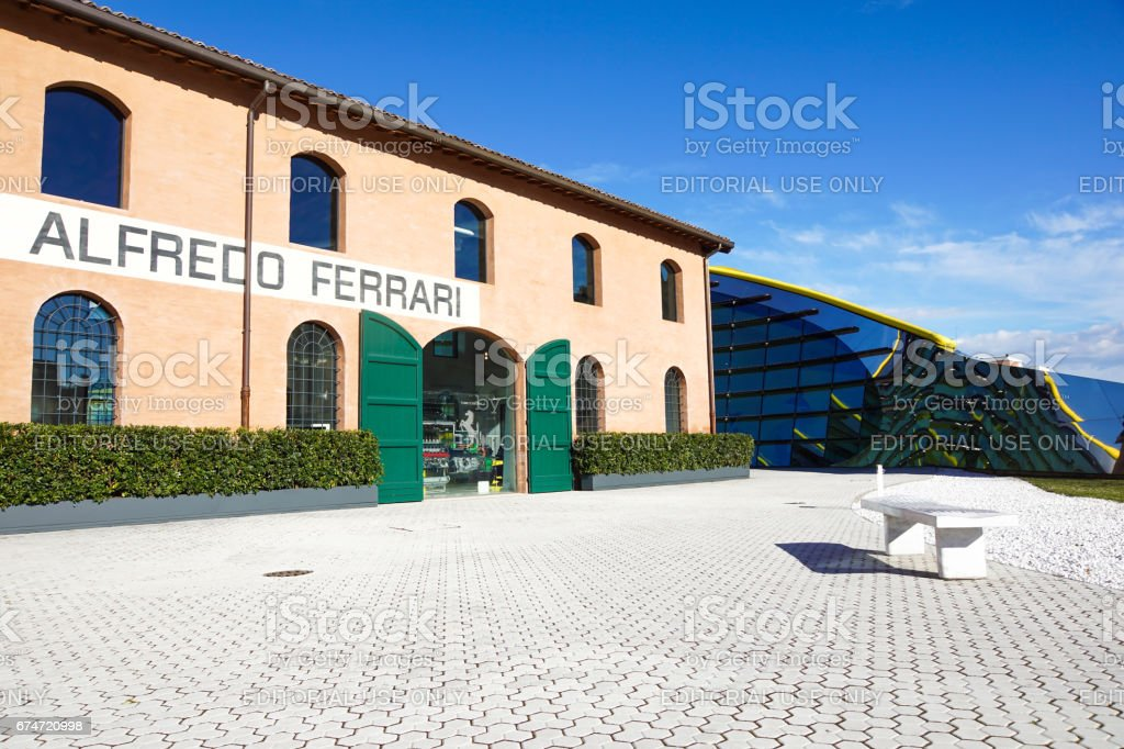 MODENA, ITALY - SEPTEMBER 9: Museum Casa Enzo Ferrari on September 9, 2013 in Modena. Museum was opened in March 201. stock photo
