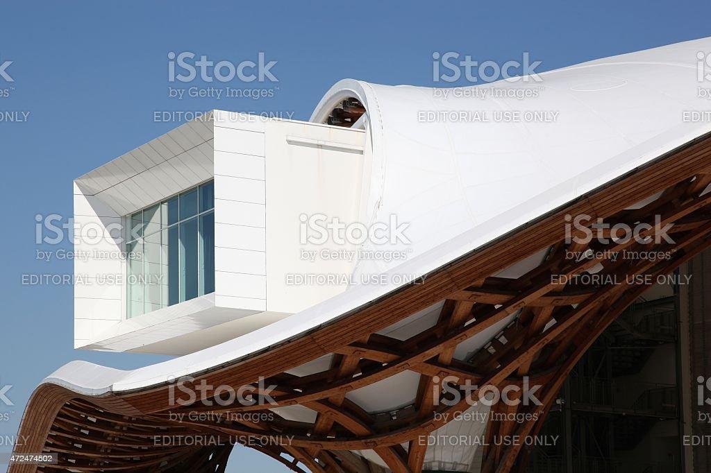 Museum Centre Pompidou in Metz, France stock photo