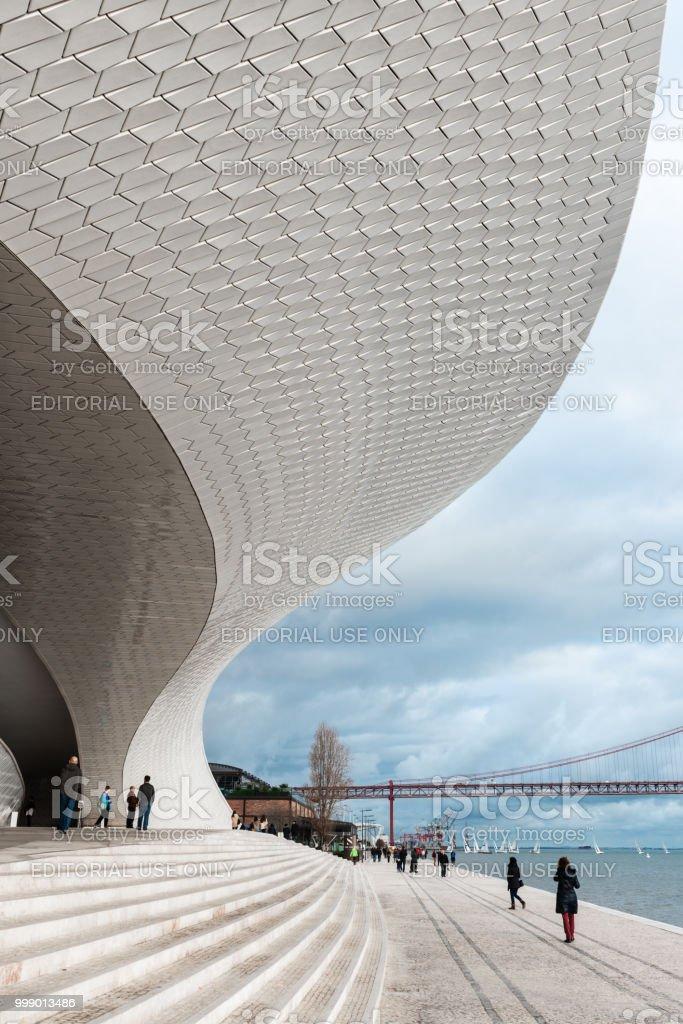 MAAT Museum in Lisbon stock photo