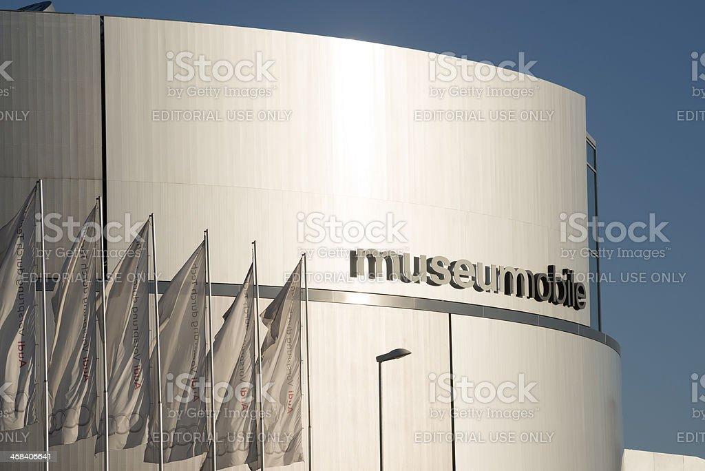 AUDI Museum Ingolstadt MUSEUMMOBILE royalty-free stock photo