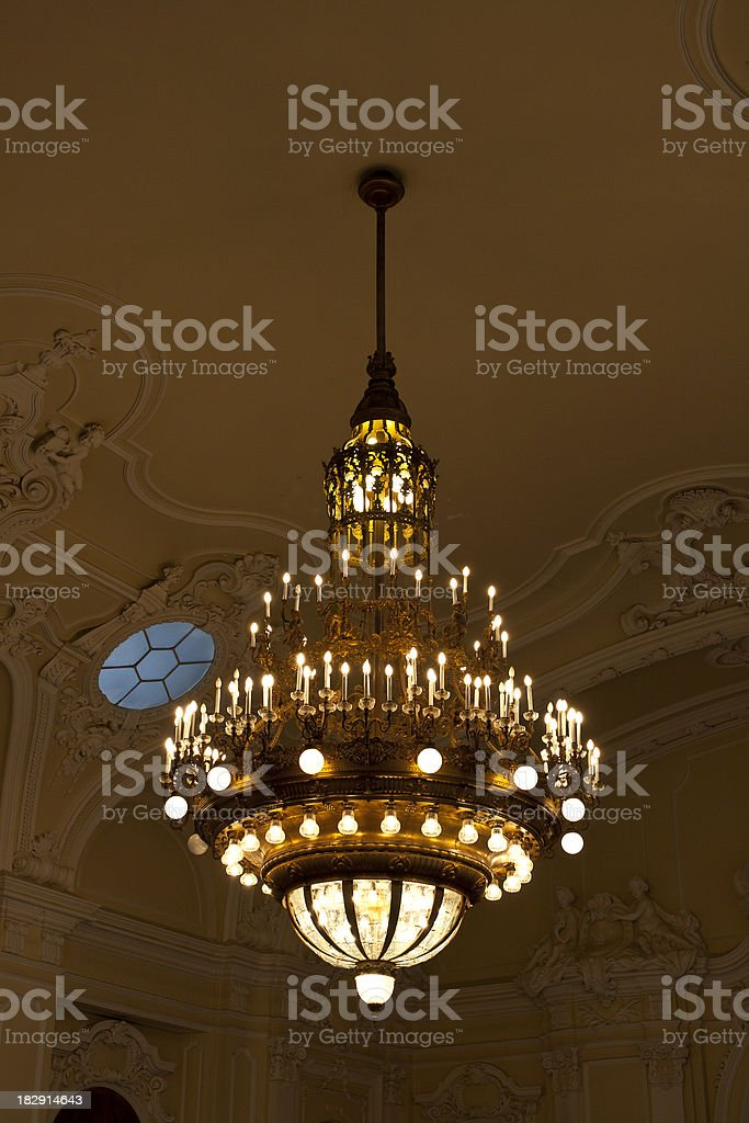 Museum interior in Budapest royalty-free stock photo
