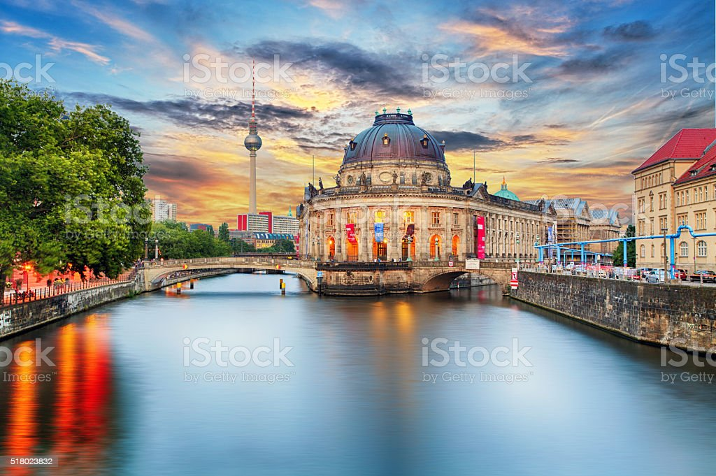 Museum island on Spree river in center Berlin, Germany stock photo