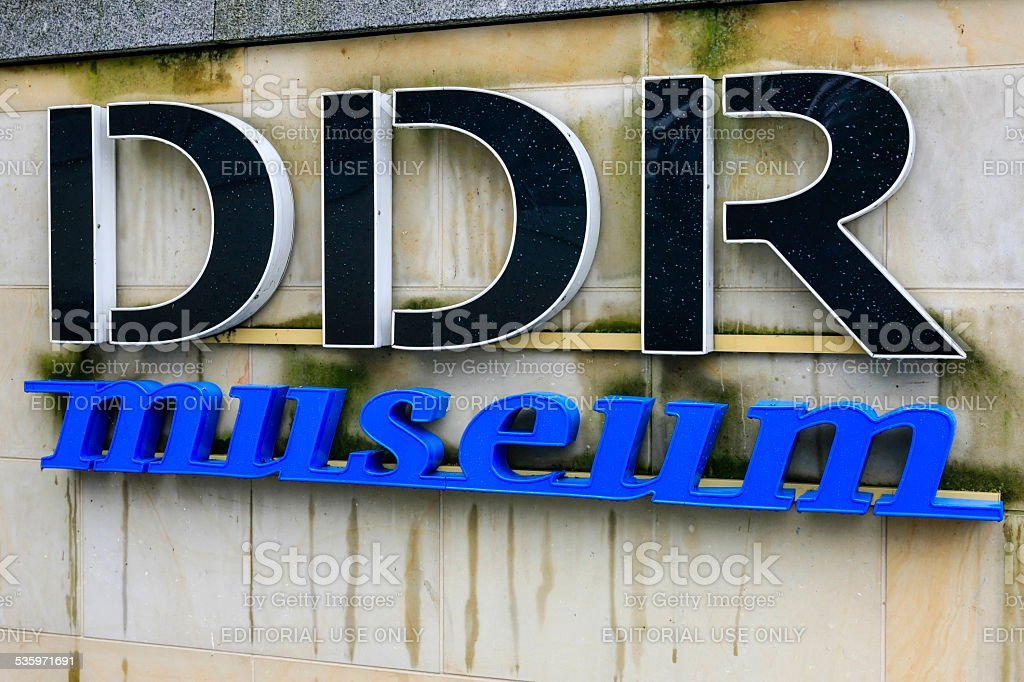 DDR Museum logo stock photo