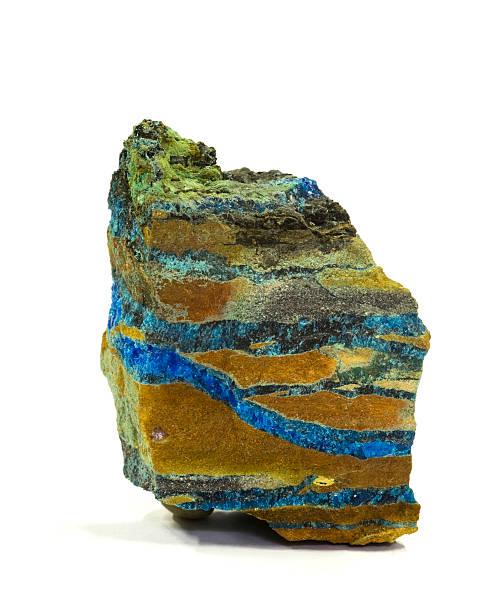 Museum mineral-Serie: Chalcanthite von Arizona, USA produziert wurde., 6 cm hoch. – Foto