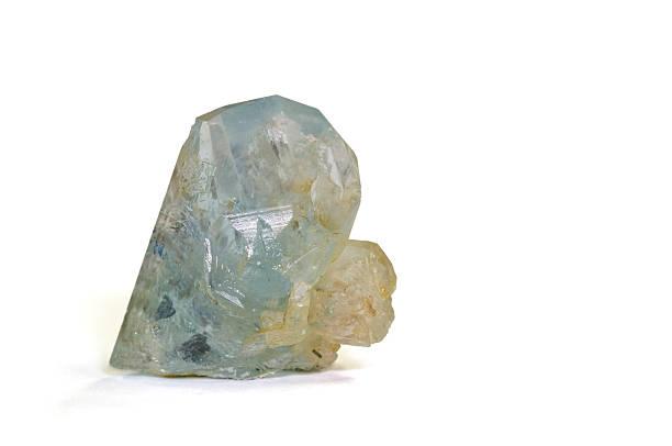 Museum mineral-Serie: Topaz von Rhodesien (jetzt Simbabwe). 1, 6 cm hoch. – Foto