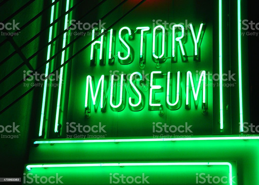 museum neon royalty-free stock photo