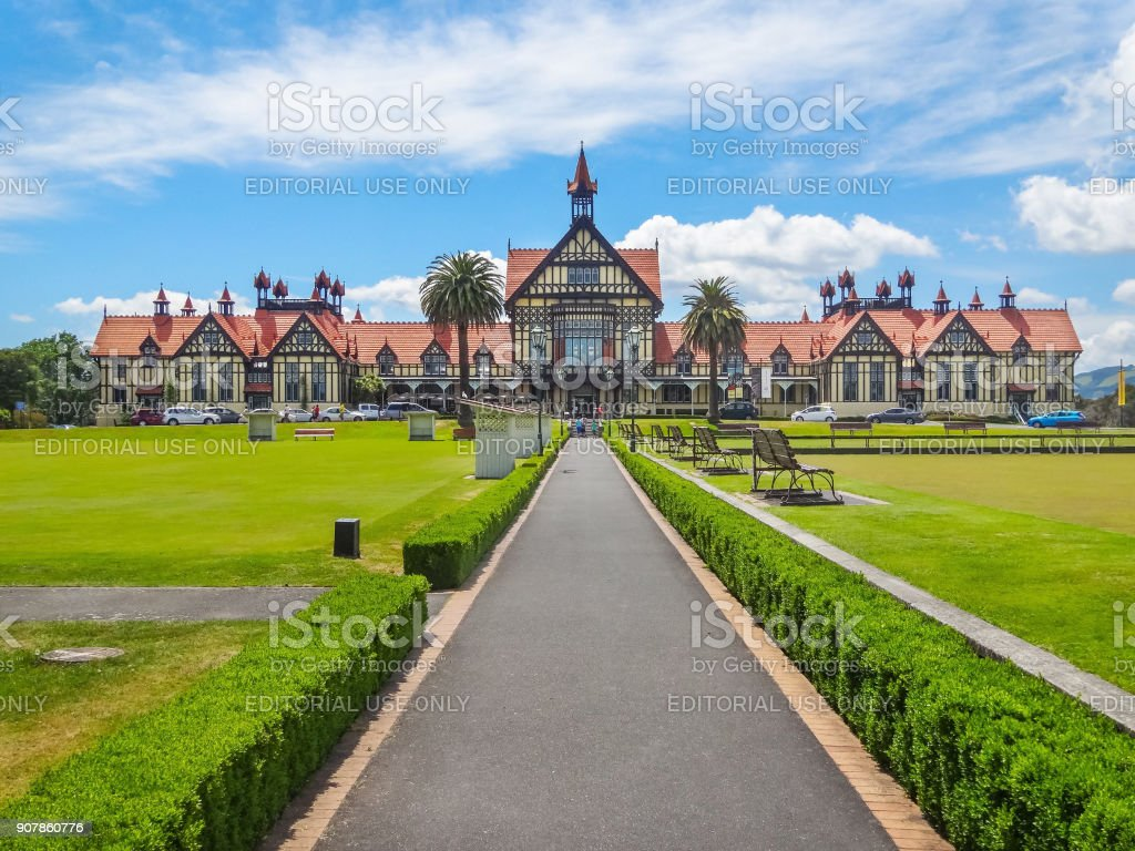 Museum of art and history in Rotorua New Zealand stock photo