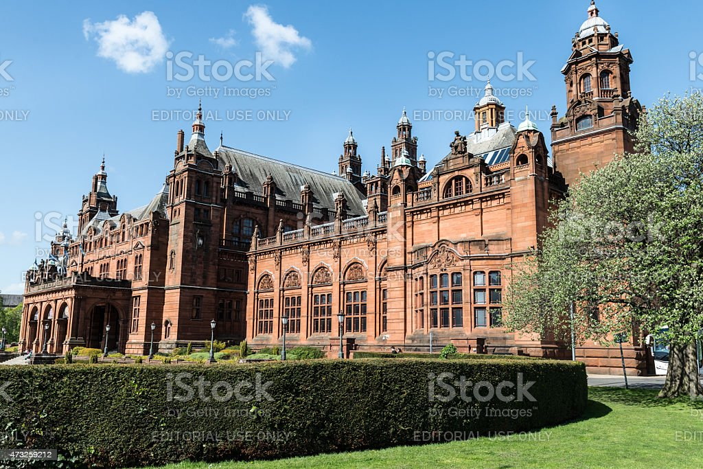 Museum of Art  in Glasgow in Scotland stock photo